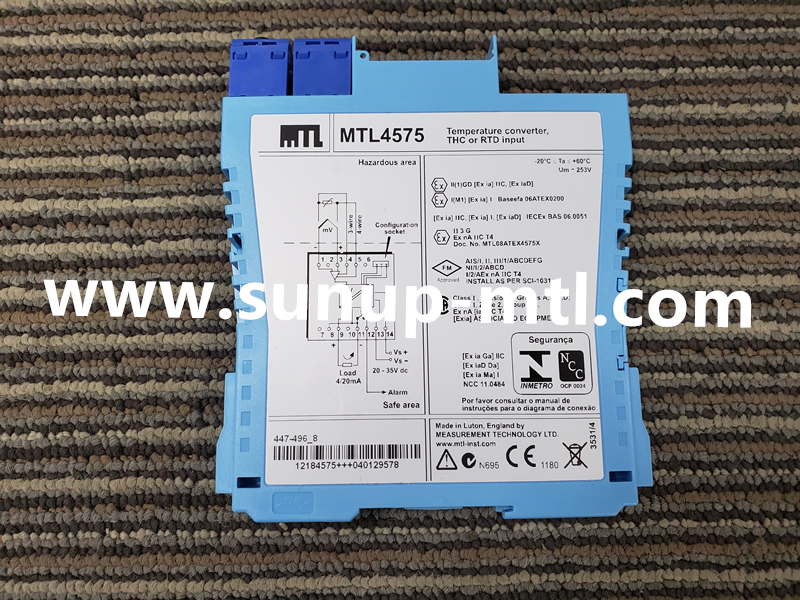 MTL4500 range MTL Temperature Input modules MTL 4576-THC, stock MTL 4576-THC isolated barrier for sale.
